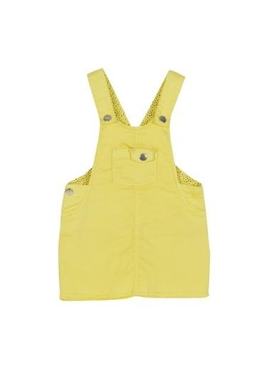 Silversun Kids Kız Bebek Cepli Askılı Dokuma Elbise - Ek 115856 Sarı